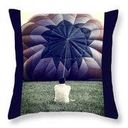 Deflated Throw Pillow