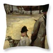 Degas Place De La Concorde Throw Pillow