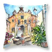 Del Carmen Church In Cartagena Throw Pillow