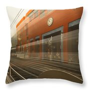 Del Mar In Motion Throw Pillow