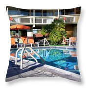 Del Marcos Pool Palm Springs Throw Pillow