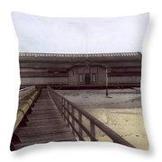 Del Monte Bathhouse From Pier California  Circa 1890 Throw Pillow