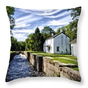 Delaware Canal Kingston New Jersey Throw Pillow