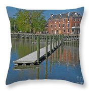 Delaware City Hotel Throw Pillow