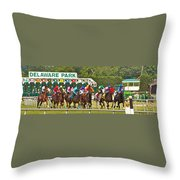 Delaware Park Throw Pillow