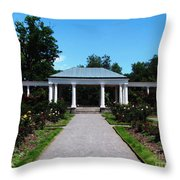 Delaware Park Rose Garden And Pergola Buffalo Ny Oil Painting Effect Throw Pillow