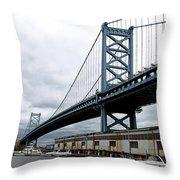 Delaware River Bridge - Philadelphia Throw Pillow