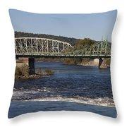 Delaware River Easton Pennsylvania Throw Pillow