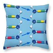 Deletion Mutation In Dna Throw Pillow