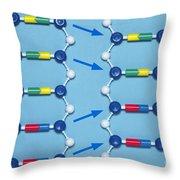Deletion Mutation In Dna Throw Pillow
