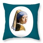 Delft Blue Flip Side Throw Pillow
