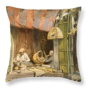 Delhi - Jeweller, From India Ancient Throw Pillow