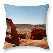Delicate Arch 3 Throw Pillow