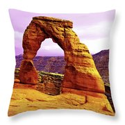 Delicate Arch - Arches National Park Throw Pillow