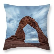 Delicate Arch Blue Hour Throw Pillow