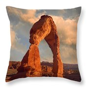 Delicate Arch In Arches National Park Throw Pillow