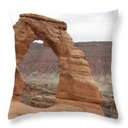 Delicate Arch Landscape Throw Pillow