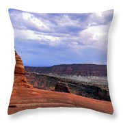 Delicate Arch Located In Arches Throw Pillow