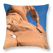Delicate Arch South Side  Throw Pillow
