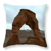 Delicate Arch View Throw Pillow