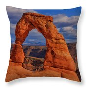 Delicate Arch View Throw Pillow by Greg Norrell