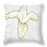 Delicate Bloom Throw Pillow