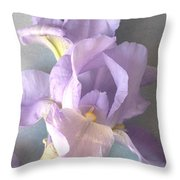 Delicate Dance Of The Iris Flower Throw Pillow
