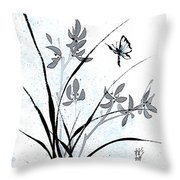 Delicate Embrace Throw Pillow