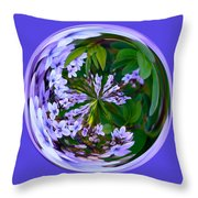 Delicate Flowers Orb Throw Pillow