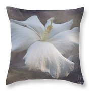 Delicate Hibiscus Throw Pillow