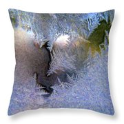 Delicate Ice - Digital Painting Effect Throw Pillow