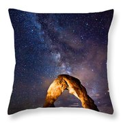 Delicate Light Throw Pillow by Darren  White
