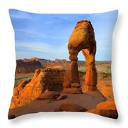 Delicate Morning Throw Pillow