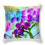 Delicate Orchids Throw Pillow
