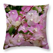 Delicate Pink Bougainvillea Throw Pillow