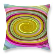 Delicate Pink Twirl Throw Pillow