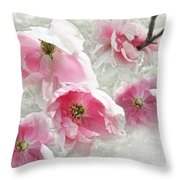 Delicate Tree Peonies Branching Out Throw Pillow