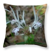 Delicate Wildflower Throw Pillow