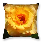 Delicate Yellow Rose Throw Pillow