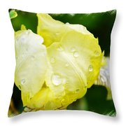 Delicate Yellow Wildflower Throw Pillow
