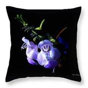 Delicately Purple Throw Pillow