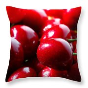 Delicious Cherries Throw Pillow