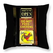 Delicious Chicken Dinners Sign Throw Pillow