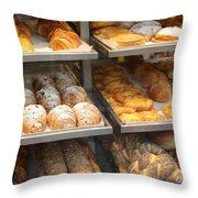 Delicious Pastries In Brussels Throw Pillow