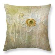 Delightful Daffodils Throw Pillow