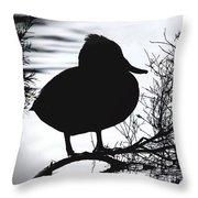Delightful Duck Throw Pillow