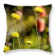 Delightful Florets Throw Pillow