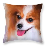 Delightful Papillon Throw Pillow