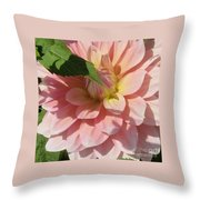 Delightful Smile Dahlia Flower Throw Pillow
