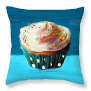 Delightful Sprinkles Throw Pillow